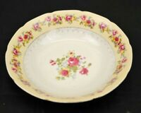 Gold Castle Hostess China Serving Bowl White Vintage