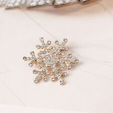 Buy 2 get 1 free rhinestone crystal gold snowflake Christmas brooch pin