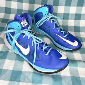 Men's Nike Prime Hype DF 683705-400 High Top Blue Basketball Shoes Size 8.5