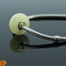 Rare White Baltic Amber Silver Pandora Charms Amber Charm Trollbeads Bracelet