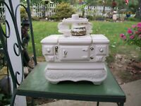 Vintage Cookie Jar Old Stove by McCoy Porcelain