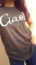 'Ciao!' Celeb inspired Slogan Casual Shirt FDC