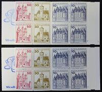 Bund BRD Markenheftchen Mi.Nr. 21 a II+b/mZ postfrisch Mi.Wert 24,50€ (5670)