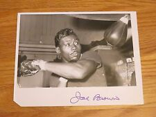 Boxing Hall of Famer JOE BROWN (d. 1997) signed 1963 Wire Photo COA