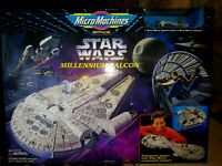 GALOOB  MICRO MACHINES STAR WARS MILLENNIUM FALCON PLAYSET, 1995, NEW SEALED MIB
