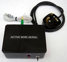 Indoor Active Fil Antenne, 500 kHz - 30 MHz, 115 ou 230 V Secteur option. Made in UK.