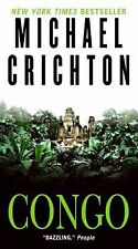 MICHAEL CRICHTON - CONGO -ONE OF THE BEST  PAPERBACK ADVENTURE FICTION