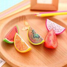 School Supplies Stationery Pencil Sharpener Creative Fruit Random Color 3 Pcs