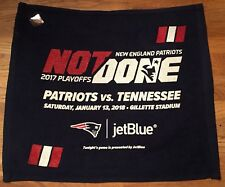 New England Patriots Playoff Rally Towel Titans 1/13/18 AFC 2018 SuperBowl LII