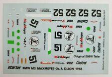 BMW M3 MaxMeyer Gr. A Dijon 1988 Decal, 1:43 Starter