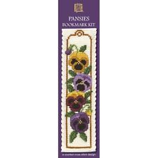 Pansies Counted Cross Stitch Bookmark Kit by Textile Heritage BKPA restyle