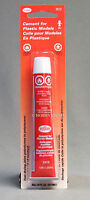 TESTORS CEMENT FOR PLASTICS 7/8 oz glue model polystrene & ABS plastic 3512 NEW