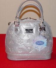 Disney Frozen Handbag By Loungefly Metallic Silver Embossed $38.- NWT Free/Ship
