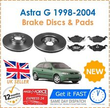 For Vauxhall Astra G MK4 1.4 1.6 1.7 1998-2004 Front Brake Discs 4 Stud & Pads