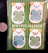 kawaii cartoon Sheep WRITING MARKER sticky notepad memo set tabs page markers