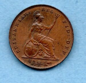 1853 QUEEN VICTORIA YOUNG HEAD, COPPER FARTHING COIN.