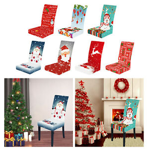 High Chair Covers for Dining Room Christmas Decor Printed Chair Slipcovers New