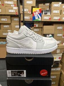 DS Size 10 10.5 11 11.5 12 Jordan 1 Low White Camo Men's DC9036-100