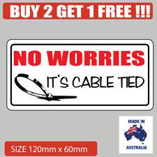 Funny Bumper sticker  4x4 cable tied bumper sticker popular