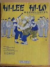 Hi-Lee Hi-Lo - 1923 sheet music - Chinese, band on cover