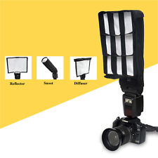 Foldable Flash Reflector Snoot Diffuser Softbox w Grid Honeycomb for Canon Nikon