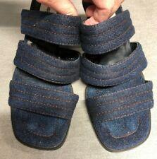 Newport News Shoes Womens Size 6.5 Denim Blue Slip on Hills Siders Sandals
