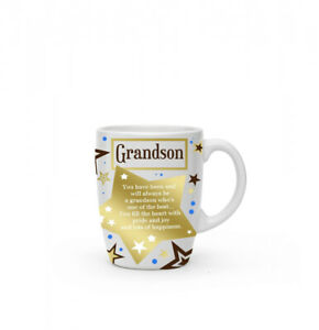 New boxed Grandson present gift fine china mug coffee cup Free P+P