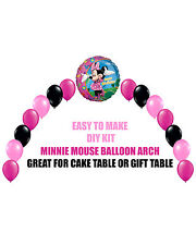 Disney Pink Minnie Mouse Birthday Party BALLOON ARCH for Cake Table Gift Table