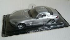 DE AGOSTINI SUPERCARS 1:43 MERCEDES SLS AMG. SILVER. NEW IN BLISTER PACK