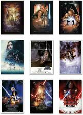 STAR WARS MOVIE POSTERS SET Episodes 1,2,3,4,5,6,7,8 + Rogue One