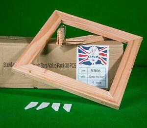 "6"" x 18mm Standard Canvas Pine Stretcher Bars, Value Pack ( 30 Bars Per Box )"