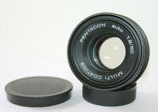 Pentacon auto 50mm f1.8 Fixed Prime Standard Lens Pentax M42 Screw Mount.