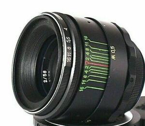 US Seller Helios 44-2 58mm f2 Fuji Bokeh portrait Lens DSLR Old M42 Mount 44-2