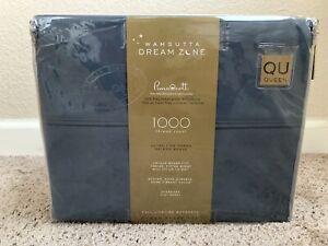 Wamsutta Dream Zone 1000-Thread Count PimaCott  Queen Sheet Set Solid Blue