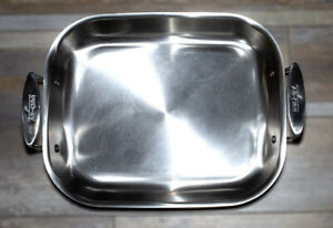 """All-Clad 14"""" BY 12"""" Stainless Steal Roasting  / Lasagne  PAN  L@@K  NO RESERVE"""