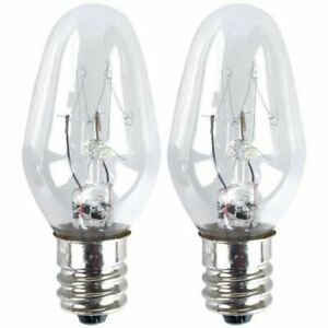 2 X Eveready Night Light Replacement Spare Bulbs 7W E14 Screw Cap Fitting