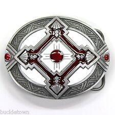 Belt Buckle Gürtelschnalle mit Indianer Azteken Maya Design Western Cowboy USA