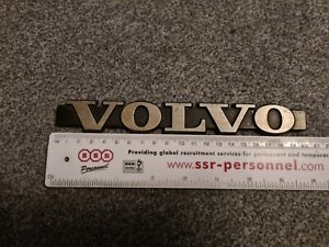 Genuine Volvo Rear Badge 1970s Metal