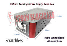 Orthopedic 50mm Locking Screw Instruments Empty Case Box