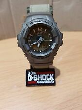 Vintage G-Shock G-101 Army Green Military Cloth Band Digit-Ana Malaysia Made