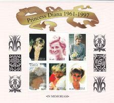 Antigua 1998 Diana Memoriam 2x mini sheet MNH
