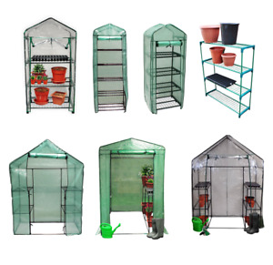 New Greenhouse PVC Plastic Outdoor Garden Grow Bag Green House with Shelves