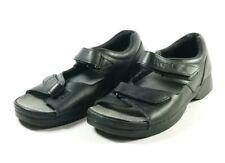 Propet Walking Sandals Women's Sz 9.5W (D) Black Leather (tu14ep)
