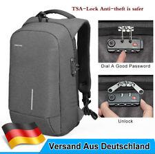Rucksack Laptop 18 Zoll Grau Tasche Herren Business Schulrucksack Wasserdicht DE