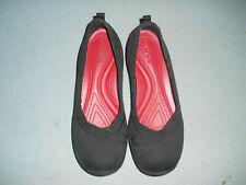 Crocs Busy Day misses nylon ballet flats shoes Sz 8 black