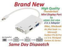 Mini Display Port Thunderbolt to VGA HDMI DVI Adapter For MacBook Air Pro Mac
