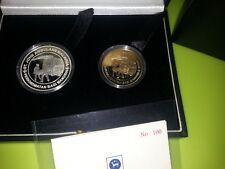 (hs) Malaysia St. John Ambulance Proof Coin Set of 2 Silver RRRR 2008
