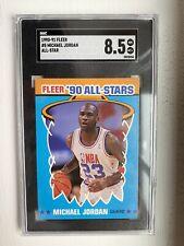 1990-91 Fleer Basketball All Star MICHAEL JORDAN #5 SGC 8.5 NM-MT+ Chicago Bulls