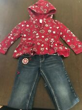 Gymboree girls jeans and jumper set size 4t