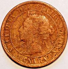 1888 Canada. Victoria . One Cent Coper .